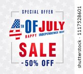 4th of july usa  independence... | Shutterstock .eps vector #1117528601