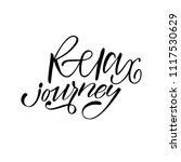 relax journey. isolated vector  ... | Shutterstock .eps vector #1117530629