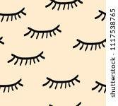 lashes seamless pattern   Shutterstock .eps vector #1117538765