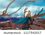 young woman in traditional... | Shutterstock . vector #1117542017
