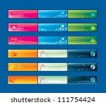 vector   buttons seasonal   set