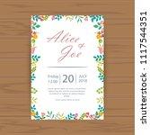 set of floral vintage wedding...   Shutterstock .eps vector #1117544351