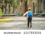 back to school. happy smiling... | Shutterstock . vector #1117553231