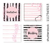 wedding glitter confetti on...   Shutterstock .eps vector #1117565015