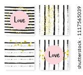 wedding stripes with glitter...   Shutterstock .eps vector #1117565039
