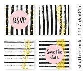 wedding invitation set with...   Shutterstock .eps vector #1117565045