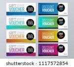 gift voucher template design... | Shutterstock .eps vector #1117572854
