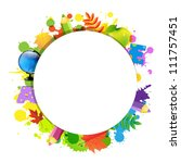 back to school with circle ... | Shutterstock .eps vector #111757451