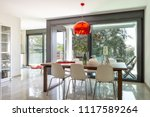 dining room detail with design... | Shutterstock . vector #1117589264