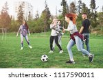 a group of friends in casual... | Shutterstock . vector #1117590011