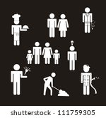 people icons over blackground.... | Shutterstock .eps vector #111759305