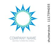 abstract symmetry circle logo....   Shutterstock .eps vector #1117594055