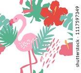 minimal summer trendy vector... | Shutterstock .eps vector #1117597349