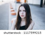 close up outdoor portrait of a... | Shutterstock . vector #1117599215