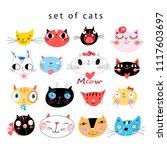 vector cheerful set of... | Shutterstock .eps vector #1117603697