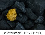 hard coal in the pile. a piece... | Shutterstock . vector #1117611911