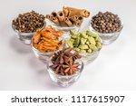 Variety Of Spices In Glass Bowl ...