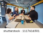 happy business people... | Shutterstock . vector #1117616501