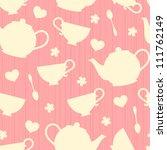 seamless pattern with tea pots ...   Shutterstock .eps vector #111762149