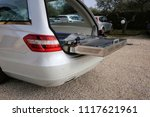 hearse open and empty | Shutterstock . vector #1117621961