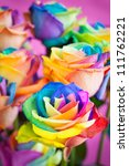 Bouquet Of Multicolored Roses ...