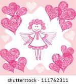 vector illustration of angel... | Shutterstock .eps vector #111762311