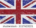 uk grunge flag.vector old flag... | Shutterstock .eps vector #1117623221