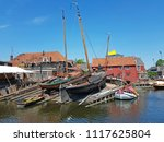 the old harbor from spakenburg... | Shutterstock . vector #1117625804