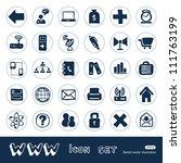 internet icons set. hand drawn...