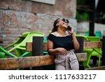 stylish african american woman... | Shutterstock . vector #1117633217