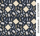 seamless vector pattern with... | Shutterstock .eps vector #1117635089