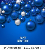 christmas background with blue... | Shutterstock .eps vector #1117637057