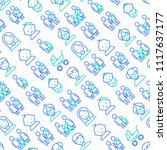 family seamless pattern with... | Shutterstock .eps vector #1117637177