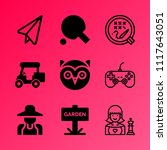 vector icon set about hobby... | Shutterstock .eps vector #1117643051
