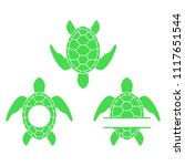 sea turtle. turtle silhouette.... | Shutterstock .eps vector #1117651544
