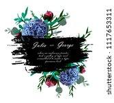wedding greeting card. the... | Shutterstock .eps vector #1117653311