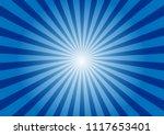 Blue Sunburst Background....