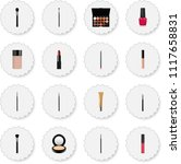 set of maquillage realistic... | Shutterstock . vector #1117658831