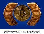 Single Bitcoin Coin With Pure...