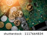 symbol of crypto currency coin... | Shutterstock . vector #1117664834
