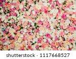 wall of flowers | Shutterstock . vector #1117668527