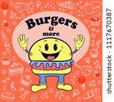 retro restaurant illustration... | Shutterstock .eps vector #1117670387