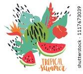 minimal summer trendy vector... | Shutterstock .eps vector #1117673039