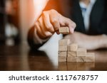 plan and strategy in business... | Shutterstock . vector #1117678757