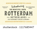 original handmade alphabet.... | Shutterstock .eps vector #1117685447