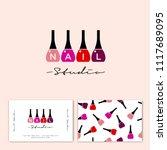 nail studio logo. multi colored ... | Shutterstock .eps vector #1117689095