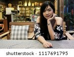 close up of young asian woman... | Shutterstock . vector #1117691795