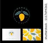 mango spa  resort or hotel logo....   Shutterstock .eps vector #1117694261