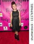 Small photo of Victoria-Elizabeth attends Jillian Estell's Red Carpet Birthday Party With A Purpose - Benefitting The Celiac Disease Foundation at Higher Vision Church, Los Angeles, CA on June 15th, 2018