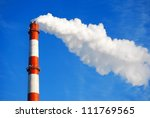 heat and power central  smoke... | Shutterstock . vector #111769565